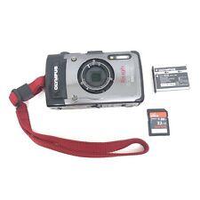 Olympus Tough TG-1 iHS 12.0MP Digital Camera (Silver) W/ Battery & 32GB SD Card