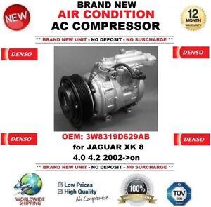 DENSO AIR CONDITIONING AC COMPRESSOR 3W8319D629AB for JAGUAR XK 8 4.0 4.2 2002->