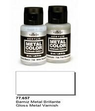 Vallejo Paints And Accessories  Metal Color VLJ-77657 Gloss Metal Varnish 32ml