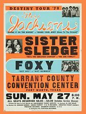 "The Jacksons / Sister Sledge Fort Worth 16"" x 12"" Photo Repro Concert Poster"