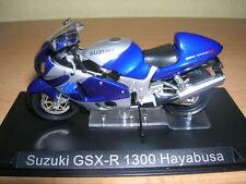 Ixo ALTAYA SUZUKI GSX-R 1300 HAYABUSA ARGENTO BLU MOTO 1:24 Motorbike Moto