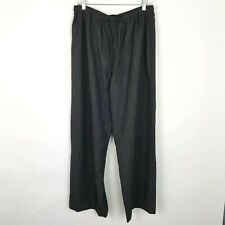 Eskandar Size 2 Gray Wool & Cashmere Wide Leg Pants with Pockets Made in England