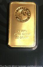 Perth Mint Australia 20grams Gold Bar - 99.99 Fine
