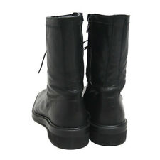 Yohji Yamamoto black leather boots shoes 38