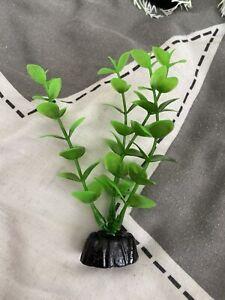 **NEW** Fish Tank/Aquarium Decoration Plastic Plant - Green 10cm Style 6