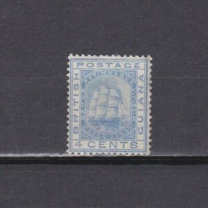 BRITISH GUIANA 1876, SG# 128, CV £140, 4c blue, MLH