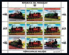 [72755] Paraguay 1984 Railway Train Eisenbahn Full Sheet MNH