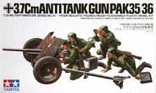 Tamiya 35035 WWII German 37mm Anti-tank Gun 1/35 Scale Plastic Model Kit