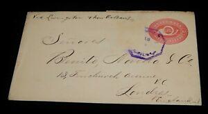 Vintage Cover,GUATEMALA,1906,Stamped Envel Embossed To London,UK Via New Orleans