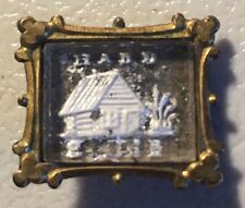"""William Henry Harrison 1840 """"Hard Cider"""" Presidential Campaign Sulfide Brooch"""