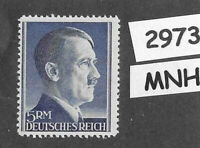 #2973    MNH 5RM Adolph Hitler Third Reich Germany stamp / 1942-1944 / Sc527a