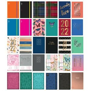 2022 A5 Week to View Diary Fashion Organiser Family Planner Hardback Cover - UK