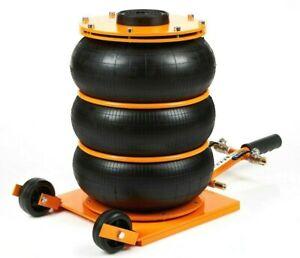 Wagenheber Pneumatisch 4,5 T Neu  max. Hubhöhe: 460mm  Druckluft AIR JACK Orange