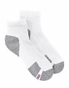 Hanes Men's Ankle Socks 6-Pack ComfortBlend Comfort Durable Heel White or Black
