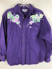 Guess by Marciano Grapes Purple Denim Shirt Womens Medium