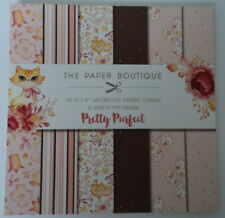 "BARGAIN PAPER BOUTIQUE PADS 8"" X 8"" - PRETTY PURFECT FOR CARDS & CRAFTS"