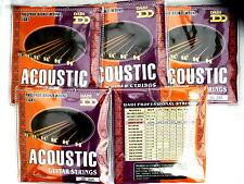 Cheap bulk acoustic guitar strings light 10-48 AG246 professional quality 5 sets