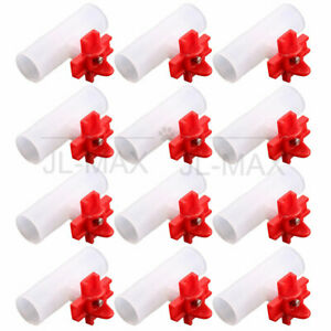 """12pcs Poultry Waterer Chicken Nipples Waterer Horizontal Side with 1/2"""" tee"""
