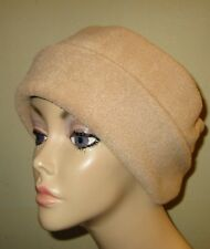 Camel Tan Anti Pill FleeceCancer Chemo Alopecia Warm Winter Hat