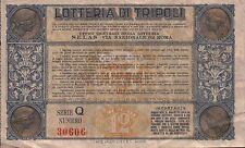 BIGLIETTO DELLA LOTTERIA DI TRIPOLI 1934 - LIRE DODICI - SERIE Q - 30606 32-132
