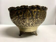 Antique Vintage Decorative Metal Fruit Bowl with Legs