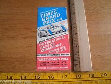 1973 LA Times Grand Prix Riverside International Raceway FULL ticket auto racing
