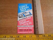 1973 LA Times Grand Prix Riverside International Raceway FULL ticket auto racing