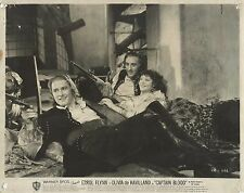 "YOLA D'AVRIL, ERROL FLYNN & BASIL RATHBONE in ""Captain Blood"" Original Vint.1935"