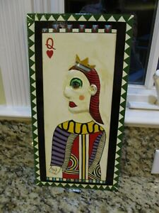 LEVENT ISIK Painting QUEEN of HEARTS 2008 OHIO art contemporary folk outsider