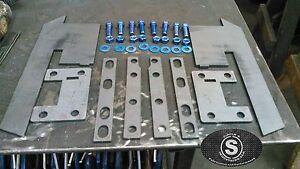 Fits 1986-2001 Jeep Cherokee XJ Rear Bumper Brackets DIY Fabrication Hardware
