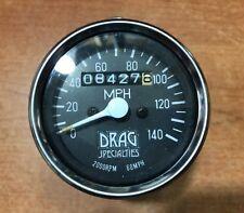 Drag Specialties Chrome Small Mechanical Speedo Harley Davidson contachilometri