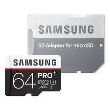 Scheda di Memoria Samsung microSDXC 64gb Pro Plus UHS-I Grade u3 classe 10, PER Smart