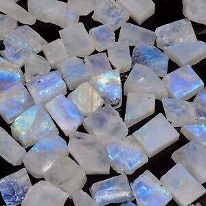 100% Natural Blue Flash Rainbow Moonstone Rough 5-10 MM Wholesale Lot