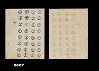 RUMANIA 1858-91 composite sheet of 32, original sheet nª 8 on right corner,COPY