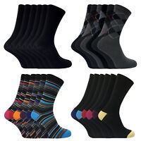 Sock Snob - 6 Paires Hommes Coton Respirant Fantaisie Rayures Désign Chaussettes