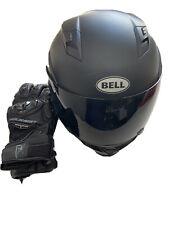 BELL REVOLVER EVO MOTORCYCLE HELMET MATTE FLAT BLACK MODULAR FLIP AND GLOVES
