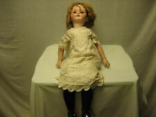 Vintage Heubach Koppesldorf Large German Girl Doll 28 Inches  250-7 Mint Head