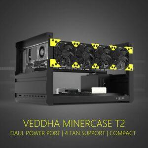 VEDDHA 6GPU T2 Edition Aluminum Open Air Mining Frame Rig Case BTC/LTC Ethereum