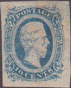 Confederate CSA #11 Ten Cent Stamp