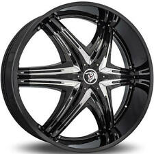 "4ea 28"" Diablo Wheels Elite G2 Black with Chrome Insert Rims (S1)"