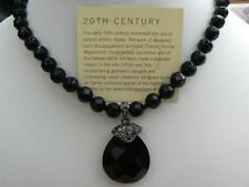 I tempi passati Grande Stile Art Deco pendente onice nero con marcasite, 80 S