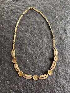 FAHRNER Art Deco Collier ° Silber vergoldet ° Original mit Punze