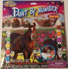 Creative Kids Paint by Number Kit - Horses, Ages 8+