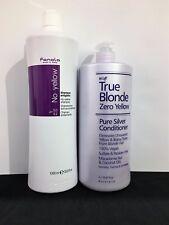 Fanola NO Yellow Shampoo  &  Zero Yellow Conditioner 1 Litre   FREE POSTAGE
