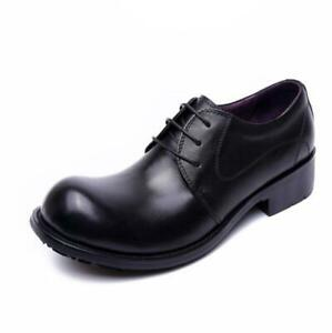 Genuine Cow Leather Mens British Business Shoes Lace up Round Toe Oxfords Party