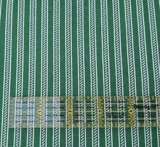 """1 yd 28"""" Collection of Edelin Wille Marcus Brothers Green Off-White Stripe"""