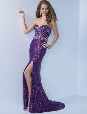 Splash Prom Dress J488 Purple Size 8 NWT