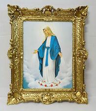 Gemälde Maria Magdalena Mutter Gottes Ikonen Heiligenbild mit Rahmen 56x46 cm