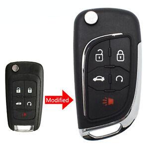 5 Button Car Key Fob Cover Shell Remote For Chevrolet Cruze Malibu Impala Sonic