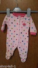Carters Girls One Piece Sleeper Pajama 3 M Baby Polka Dot Kitty Feet Fleece